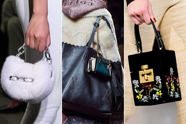 Micro bags at Alexander Wang Fall 2018, Coach 1941 Fall 2018 and Oscar de la Renta Fall 2018