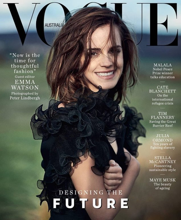 Vogue Australia March 2018 : Emma Watson by Peter Lindbergh