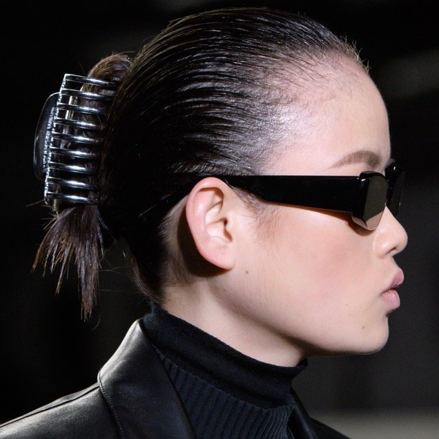 The claw clip made a comeback at Alexander Wang Fall 2018.