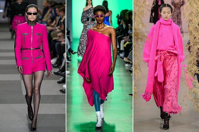 Hot pink on the Fall 2018 New York runways at Alexander Wang Fall 2018, Adam Selman Fall 2018, Ulla Johnson Fall 2018