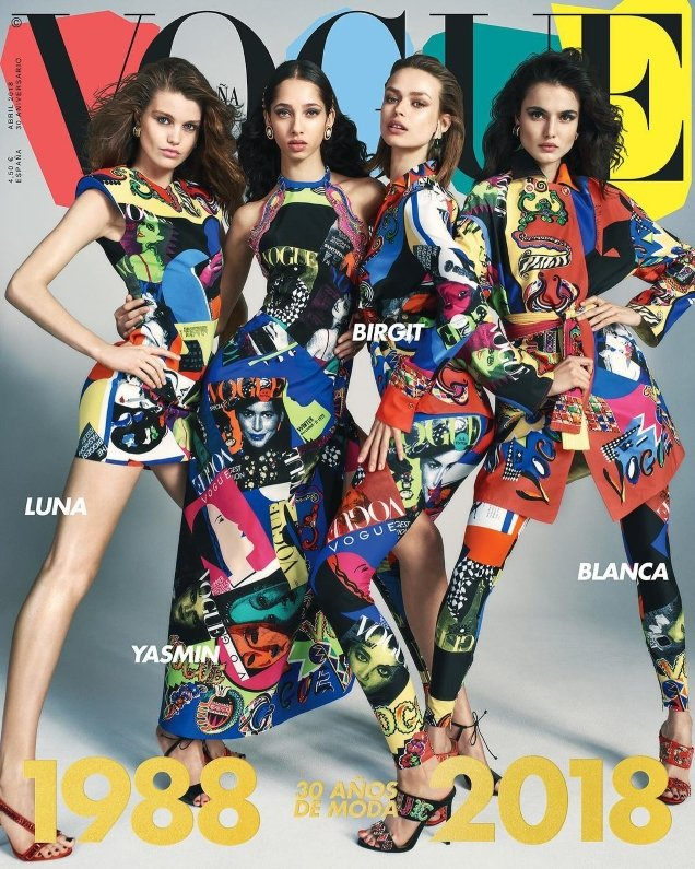 Vogue España April 2018 : Birgit, Luna, Yasmin & Blanca by Emma Summerton