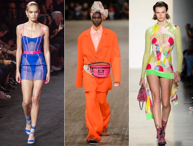 Neon shined bright on the Spring 2018 runways.