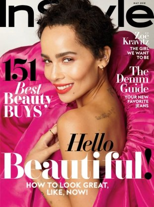US InStyle May 2018 : Zoe Kravitz by Anthony Maule