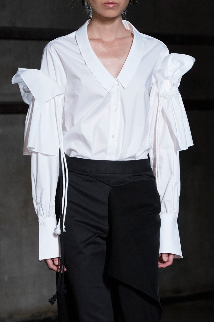 White blouse at Palmer Harding Spring 2018