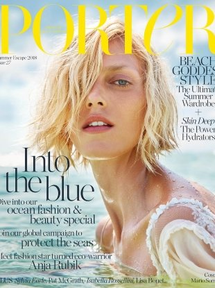 Porter #27 Summer Escape 2018 : Anja Rubik by Mario Sorrenti