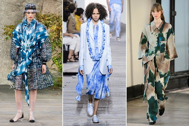 Tie-dye on the Spring 2018 runways.