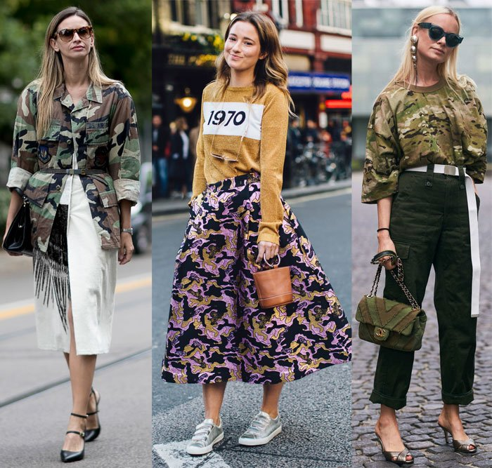 Camo prints the street style way