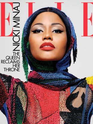 US Elle July 2018 : Nicki Minaj by Karl Lagerfeld