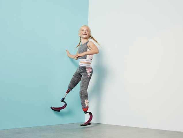 8-Year-Old Double Amputee Stars In River Island Activewear