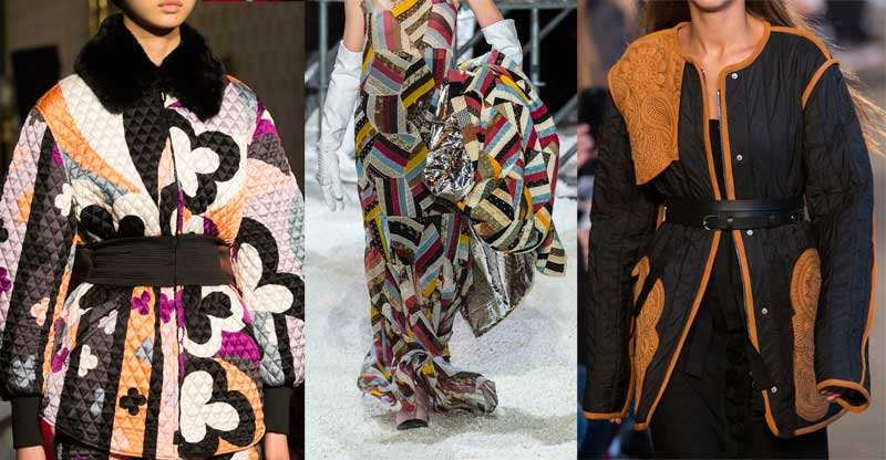 Quilting on the Fall 2018 runways at Pucci, Calvin Klein and Altuzarra