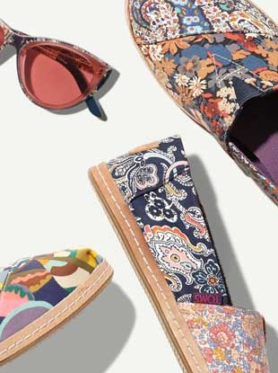 25e804963a1 The TOMS x Liberty London Collab Is Floral Overload in the Best Way Possible