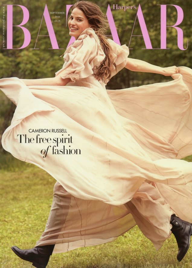 UK Harper's Bazaar September 2018 : Cameron Russell by Will Davidson