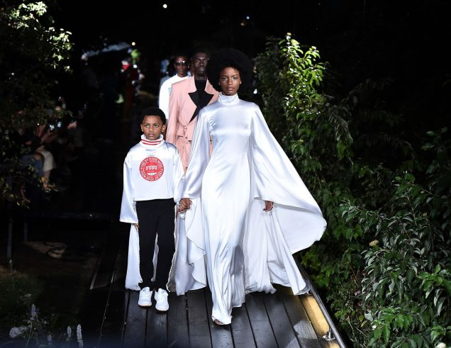 Models walk the finale at Pyer Moss Spring 2019.