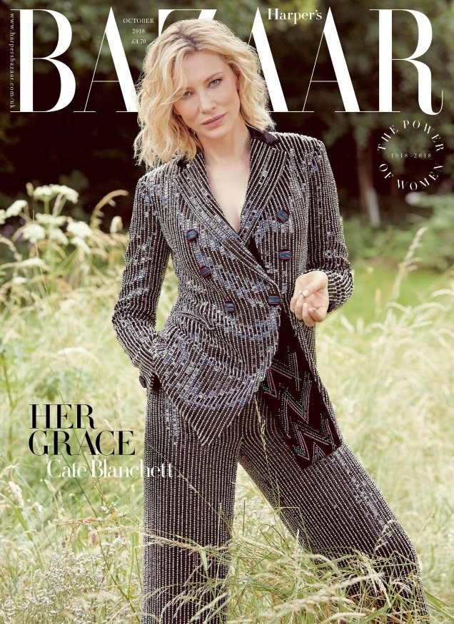 UK Harper's Bazaar October 2018 : Cate Blanchett by Will Davidson