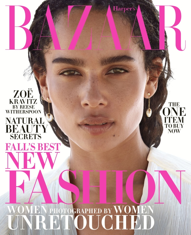 US Harper's Bazaar October 2018 : Zoe Kravitz by Camilla Akrans
