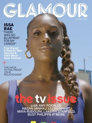 US Glamour October 2018 : Issa Rae by Petra Collins