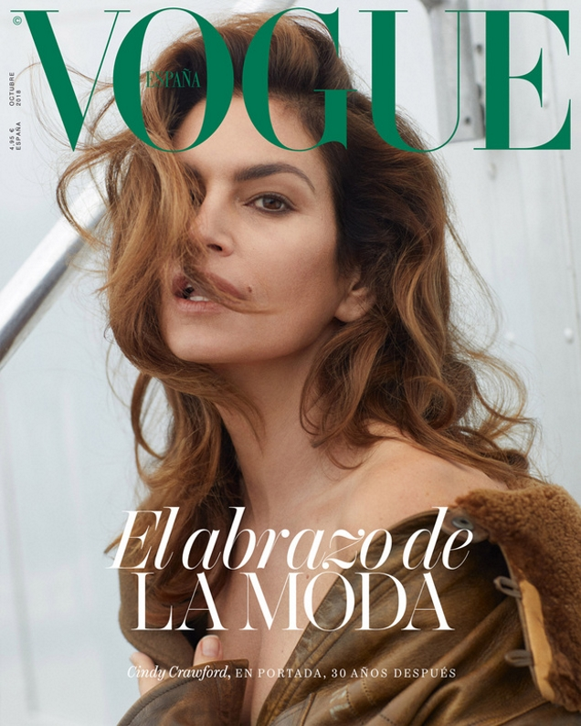 Vogue España October 2018 : Cindy Crawford by Sebastian Faena