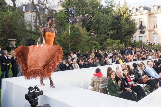 A model walks at Jacquemus Spring 2019.