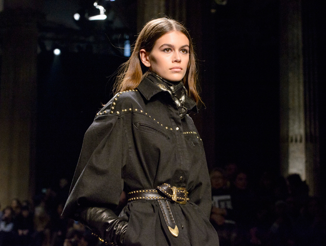 Kaia Gerber walks the Alberta Ferretti Fall 2018 show