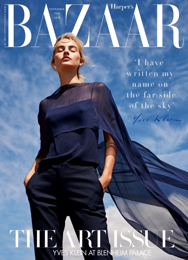 UK Harper's Bazaar November 2018 : Maartje Verhoef by Josh Shinner