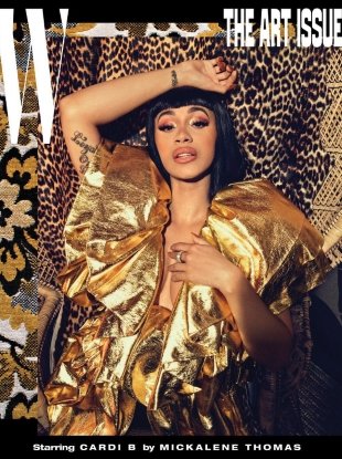 W Volume #7 'The Art Issue' 2018 : Cardi B by Mickalene Thomas