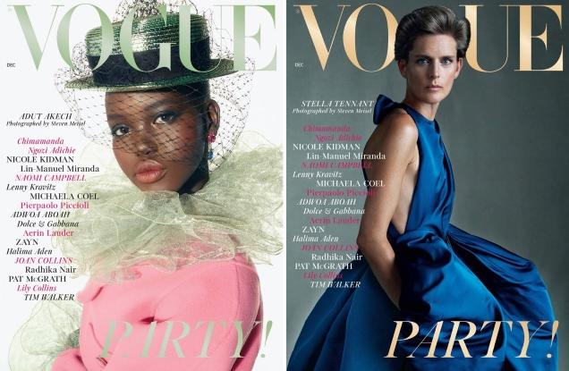 UK Vogue December 2018 : Adut Akech, Stella Tennant, Saffron Vadher & Primrose Archer by Steven Meisel
