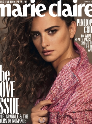 US Marie Claire February 2019 : Penelope Cruz by Nico Bustos