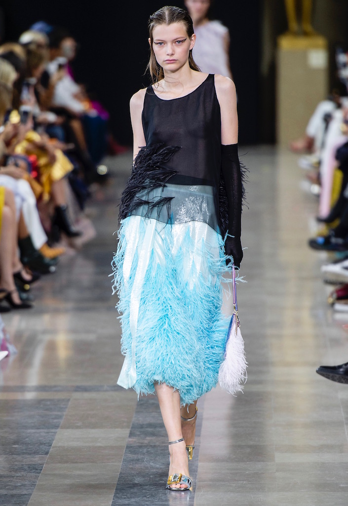 Feathers also proved popular for Spring 2019.