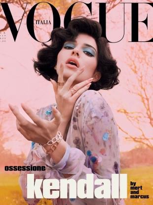 Vogue Italia February 2019 : Kendall Jenner by Mert Alas & Marcus Piggott
