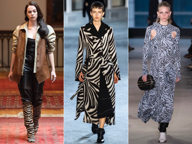 Zebra prints on the Fall 2019 runways.