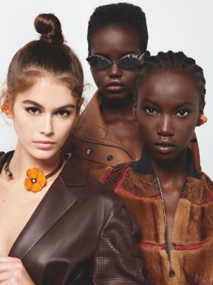 Fendi S/S 2019 : Anok Yai, Adut Akech & Kaia Gerber by Karl Lagerfeld