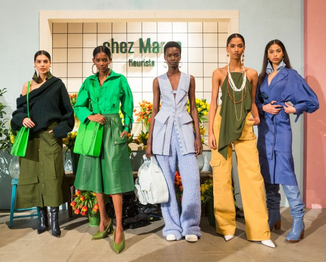 Models at Jacquemus' Fall 2019 show in Paris.