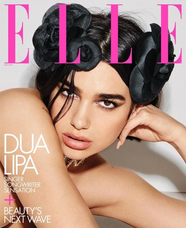 US Elle May 2019 : Dua Lipa by Carin Backoff