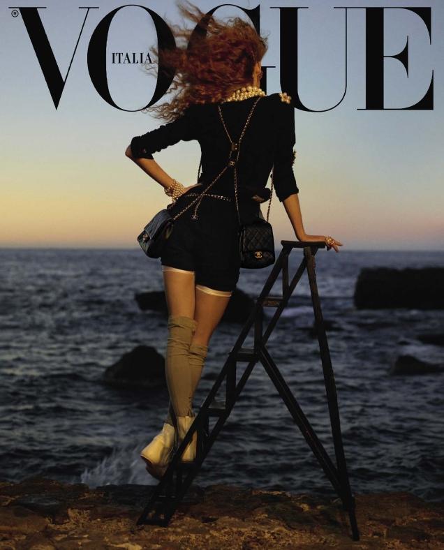 Vogue Italia April 2019 : Rianne Van Rompaey by Karim Sadli
