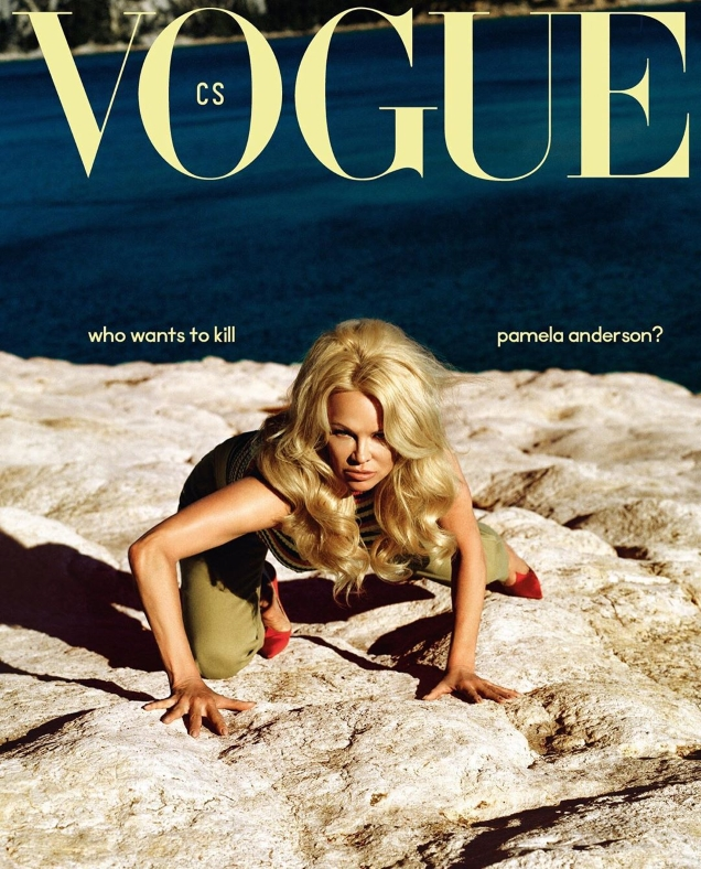 Vogue Czechoslovakia June 2019 : Pamela Anderson by Dan Beleiu