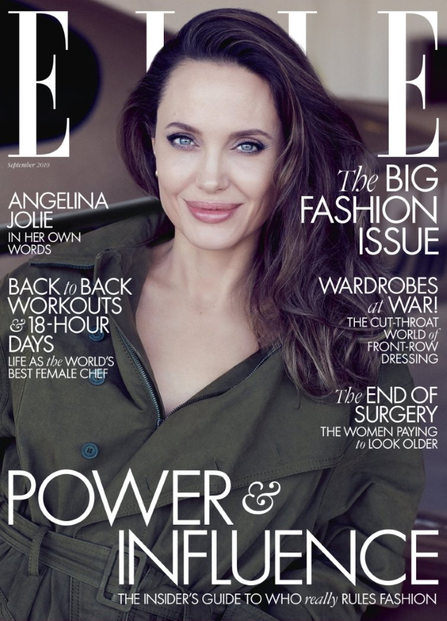 UK Elle September 2019 : Angelina Jolie by Alexi Lubomirski