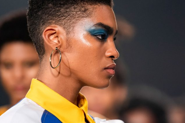 A model walks the runway at Pyer Moss' Spring 2020 show in New York.