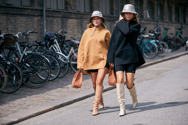 Sweatshirts seen on the street at Copenhagen Fashion Week Spring 2020.