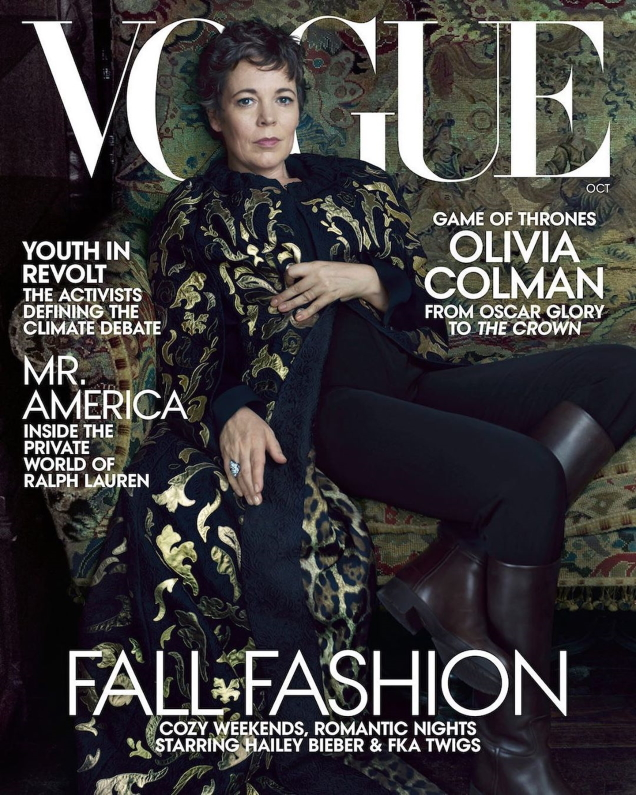 US Vogue October 2019 : Olivia Colman by Annie Leibovitz