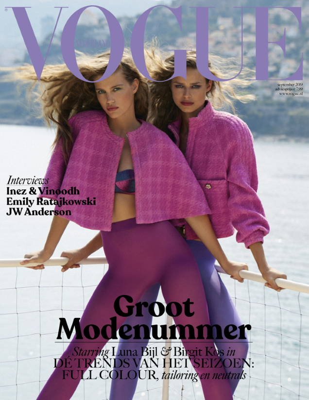 Vogue Netherlands September 2019 : Luna Bijl & Birgit Kos by Carlijn Jacobs