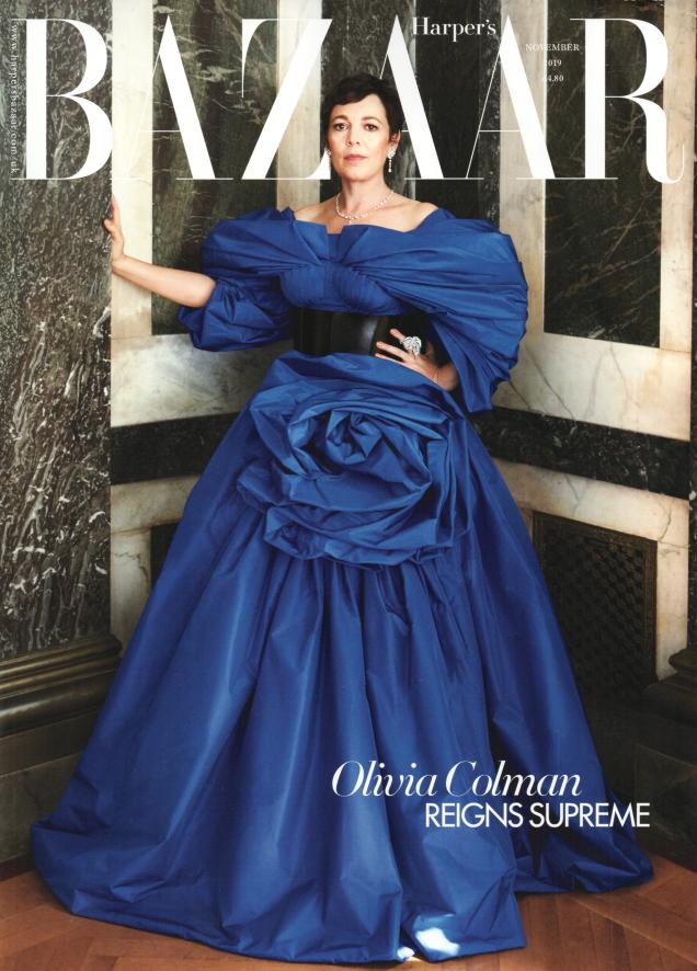 UK Harper's Bazaar November 2019 : Olivia Colman by Alexi Lubomirski