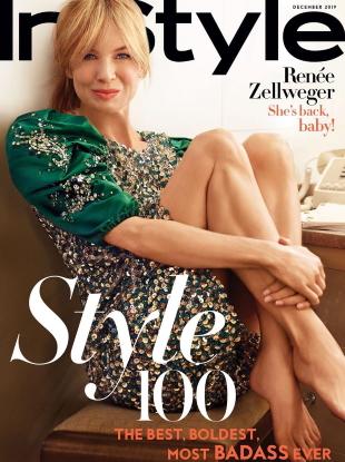 US InStyle December 2019 : Renée Zellweger by Sebastian Faena