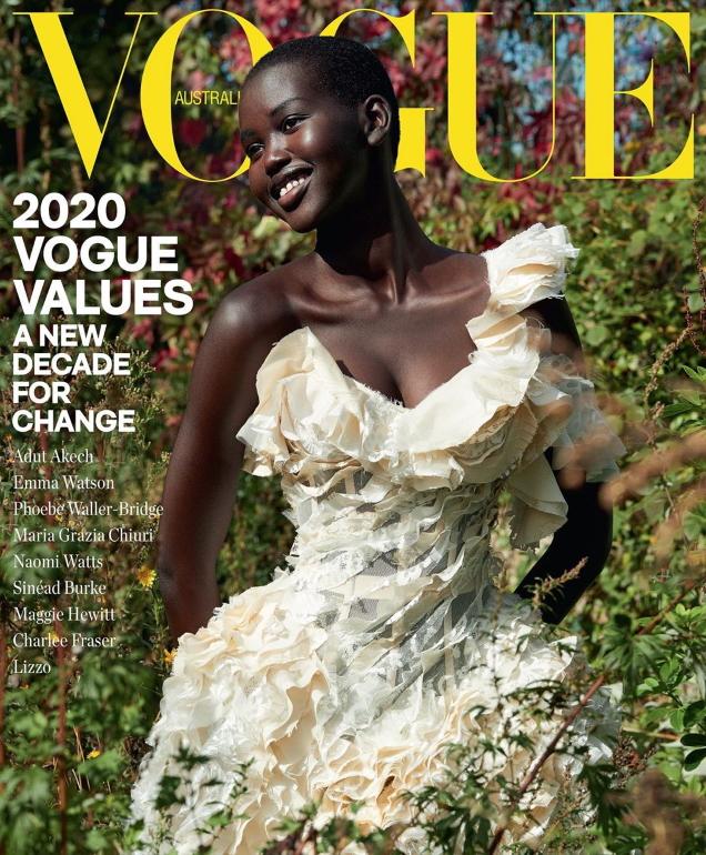 Vogue Australia January 2020 : Adut Akech by Nathaniel Goldberg