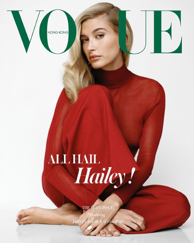 Vogue Hong Kong December 2019 : Hailey Bieber by Cass Bird