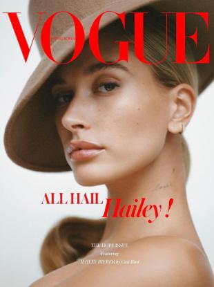 Vogue Hong Kong December 2019 : Hailey Bieber by Cass Bird