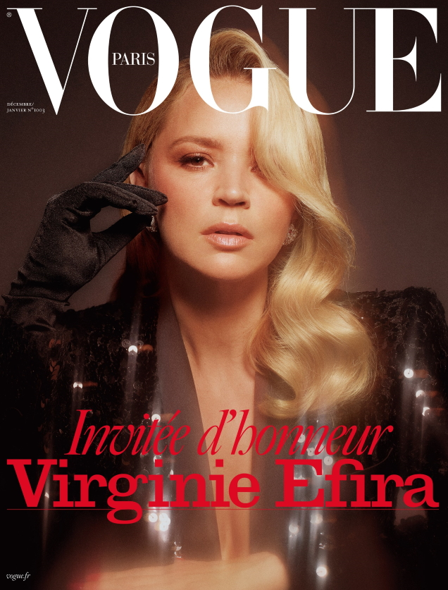 Vogue Paris December 2019/January 2020 : Virginie Efira by Mikael Jansson