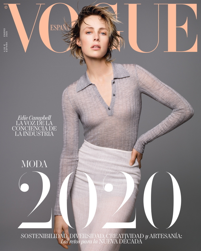 Vogue España January 2020 : Edie Campbell by Solve Sundsbo