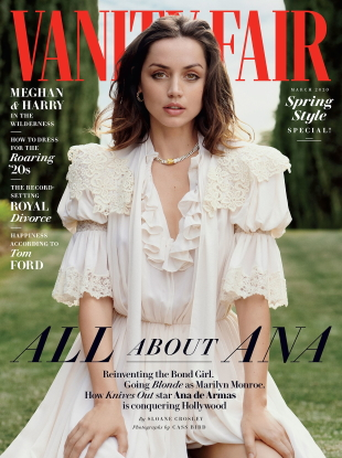 anity Fair March 2020 : Ana de Armas by Cass Bird