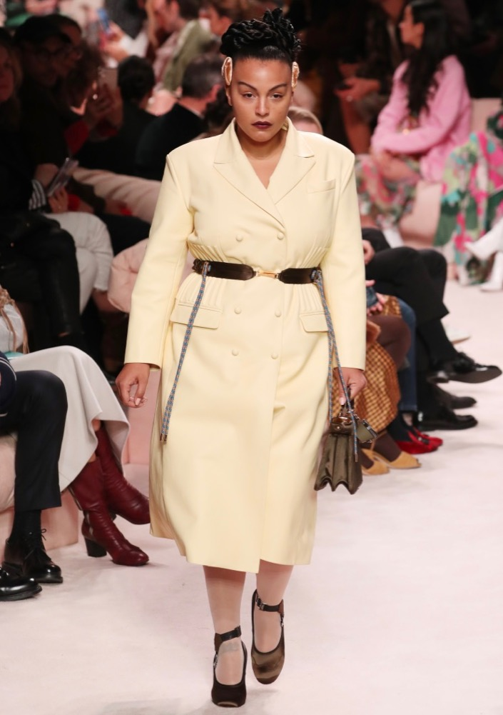 Paloma Elsesser at Fendi Fall 2020