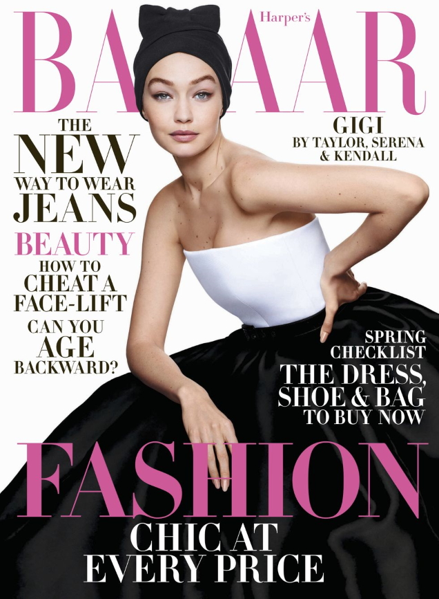 US Harper's Bazaar April 2020 : Gigi Hadid by Sølve Sunsbø
